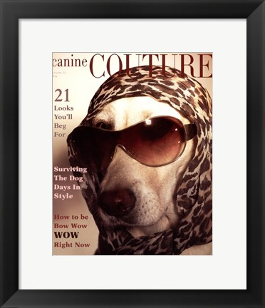 Framed Couture - Bow Wow Wow Print