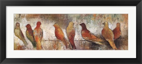 Framed Birds On A Wire Print