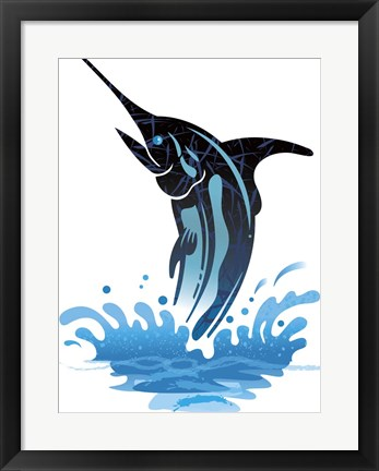 Framed Swordfish Print