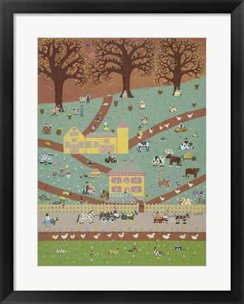 Framed Farm Folks Print