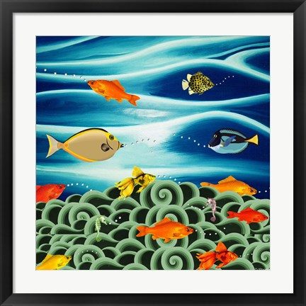 Framed Fishtales I Print