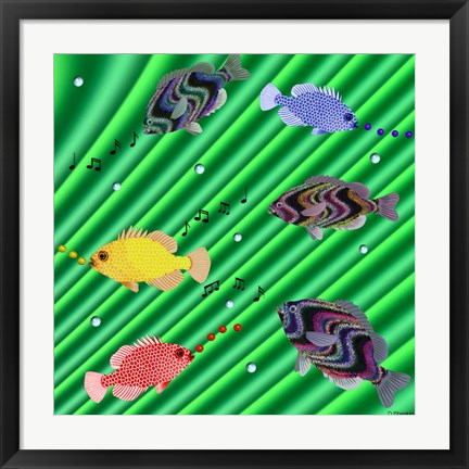 Framed Fishtales IX Print