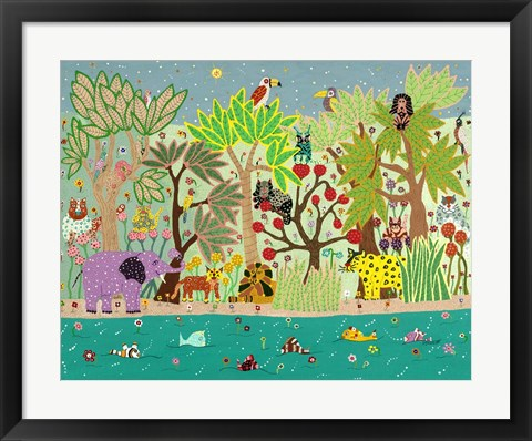 Framed Jungle Beasts Print