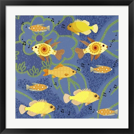 Framed Fishtales 5 Print