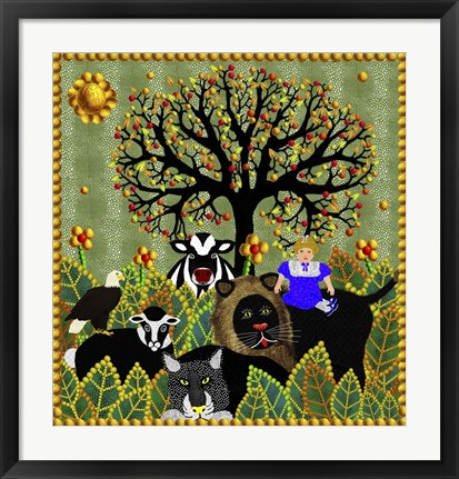 Framed Peaceable Kingdom 11 Print
