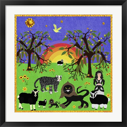 Framed Peaceable Kingdom 13 Print