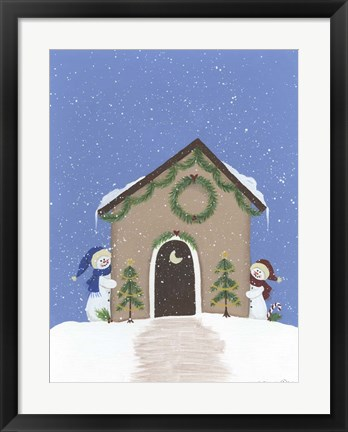 Framed Tan Outhouse Print