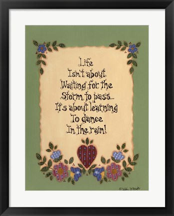 Framed Life's Lessons III Print