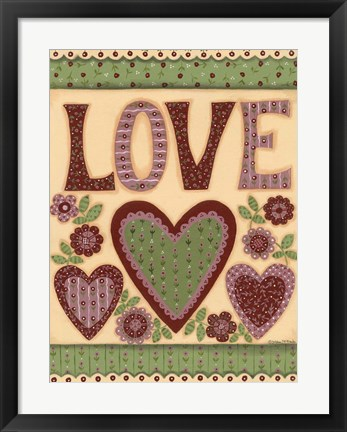 Framed Love I Print