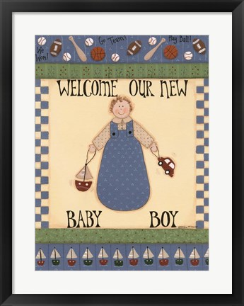 Framed Welcome Baby II Print