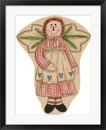 Framed Girl Rag Doll Print