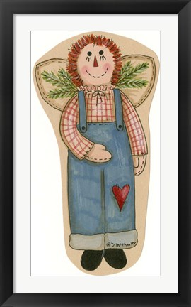 Framed Boy Rag Doll Print