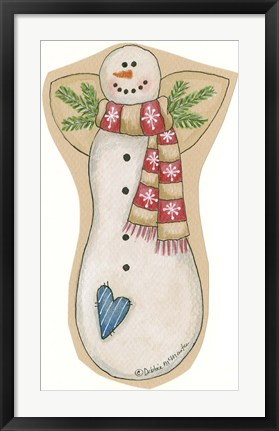 Framed Red Scarf Snowman Print