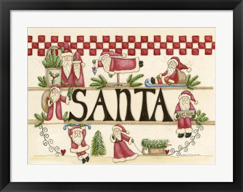 Framed Believe In Santa Print