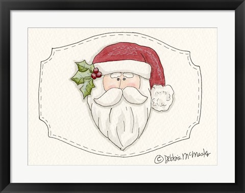 Framed Santa Head Print