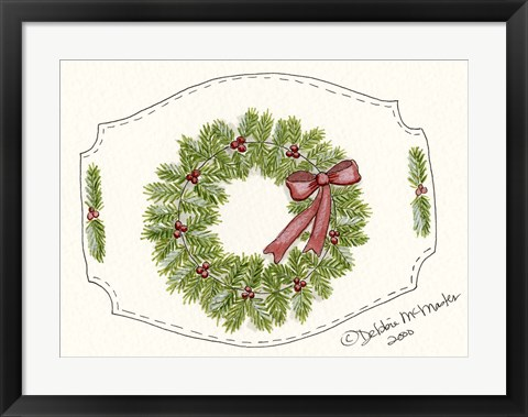 Framed Wreath Print