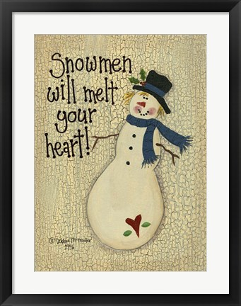 Framed Snowmen Will Melt Your Heart Print