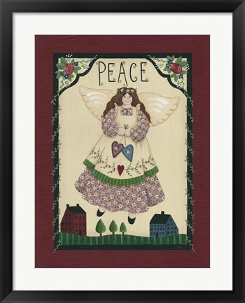 Framed Peace Angel Print