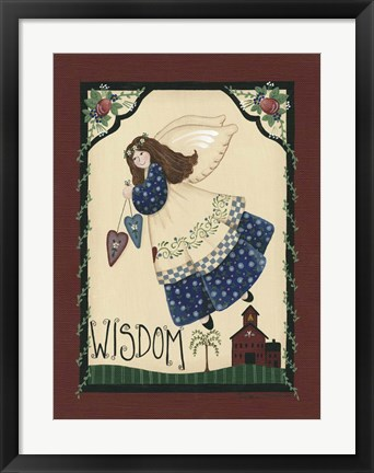 Framed Wisdom Angel Print
