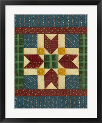 Framed Quilt Square 2 Print