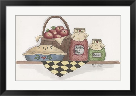 Framed Apple Pie With Basket Print