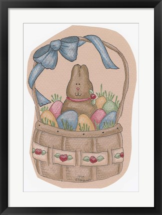 Framed Chocolate Bunny Print