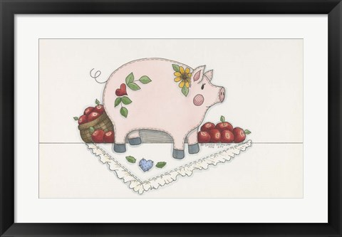 Framed Country Pig Print
