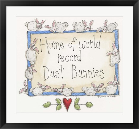 Framed Dust Bunnies Print