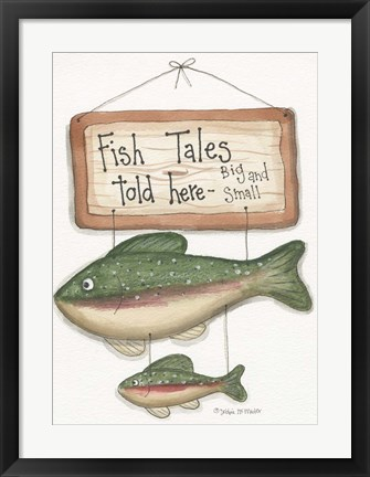 Framed Fish Tales Print