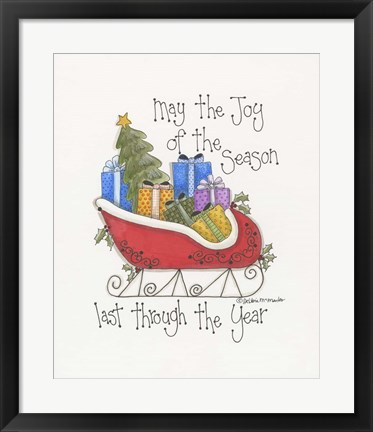 Framed Joy Of The Season Print