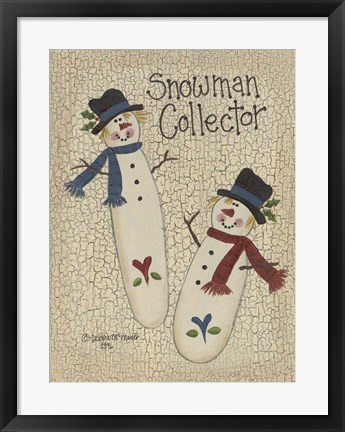 Framed Snowman Collector Print