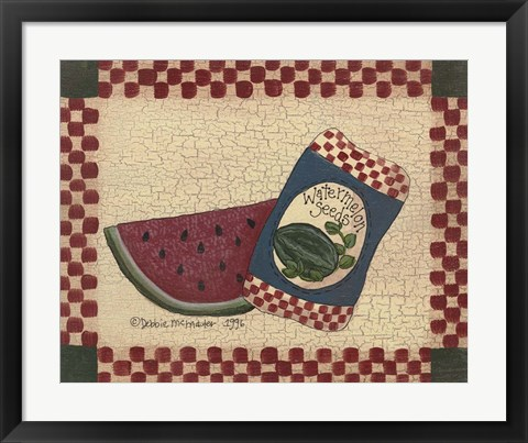 Framed Watermelon Seeds Print