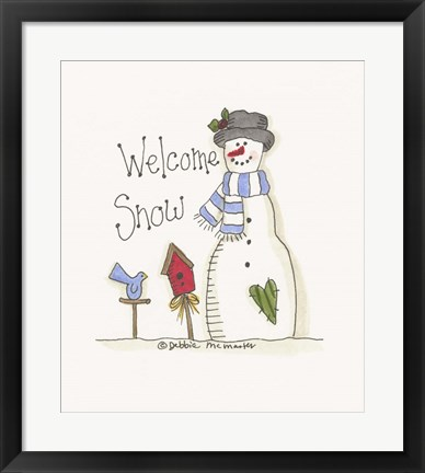 Framed Welcome Snow Print