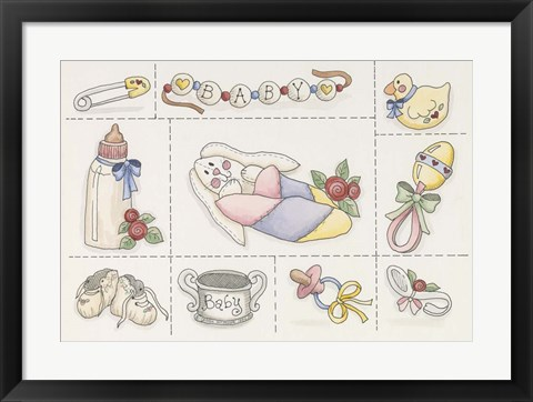 Framed Baby Collage Print