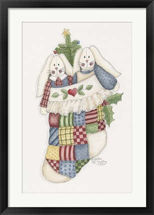 Framed Bunny Stocking Print