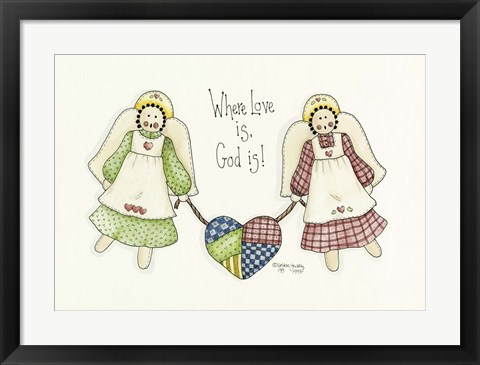 Framed Where Love Is Angel Print