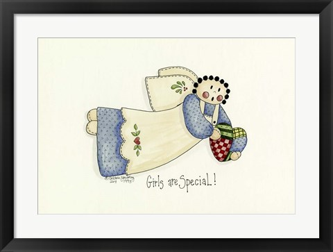 Framed Girls Are Special Angel Print