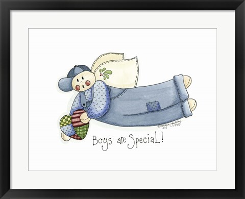 Framed Boys Are Special Angel Print