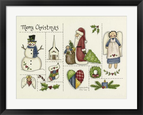 Framed Merry Christmas Collage Print