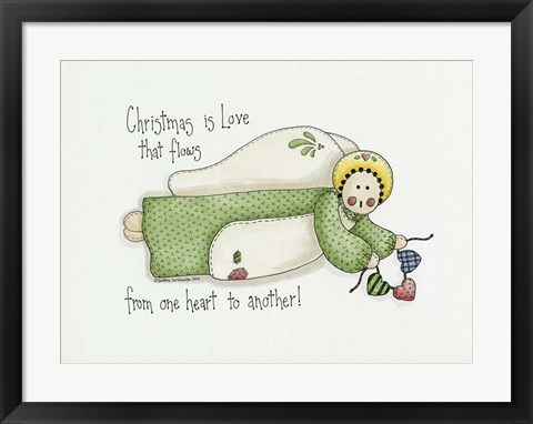 Framed Christmas Is Love Angel Print