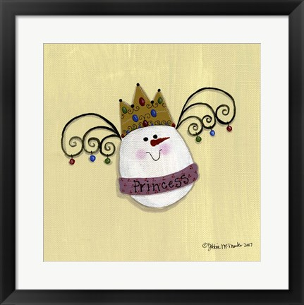 Framed Egg Princess Print