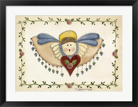 Framed Beaded Angel Print