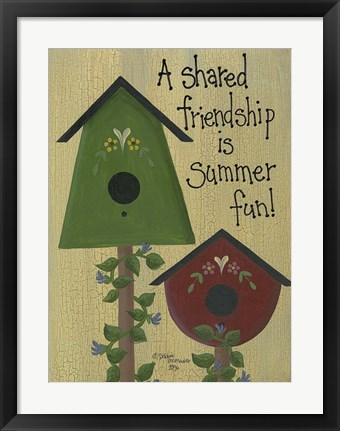 Framed Shared Friendship Print