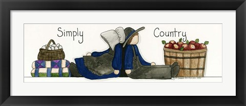 Framed Simply Country Print