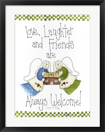Framed Love, Laughter And Friends Print