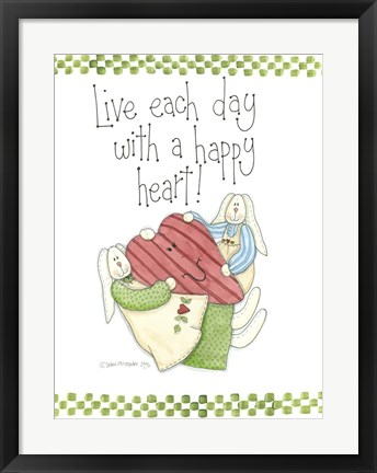 Framed Happy Heart Print