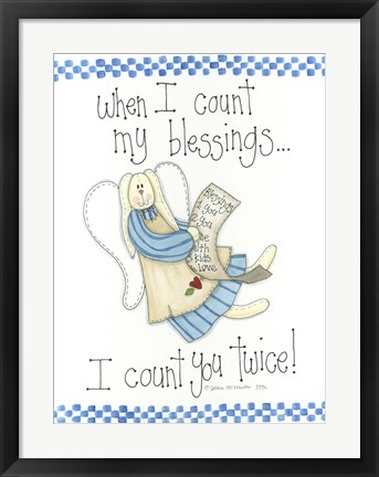 Framed Count My Blessings Print