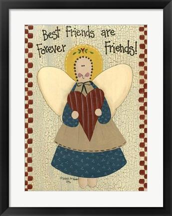 Framed Best Friends Are Forever Print