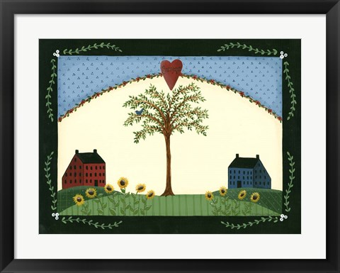 Framed Summer Tree Print