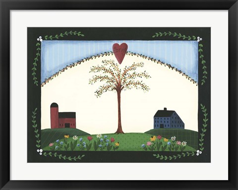 Framed Spring Tree Print